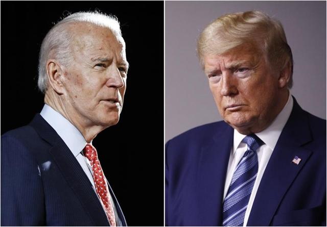Tổng thống Mỹ Donald Trump, đảng Cộng hòa (trái), và cựu phó tổng thống Joe Biden. Ảnh: Reuters.