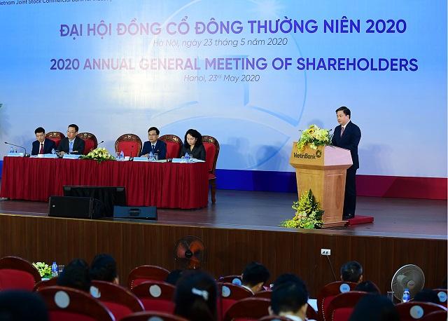 Phiên họp cổ đông thường niên 2020 của VietinBank. Ảnh: VietinBank.