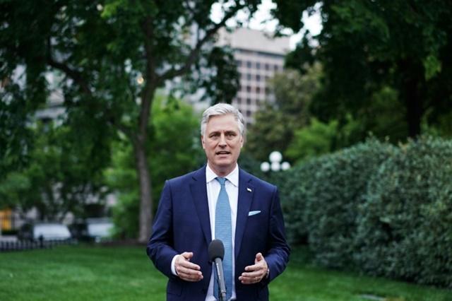 Cố vấn an ninh quốc gia Nhà Trắng Robert O'Brien. Ảnh: AFP.
