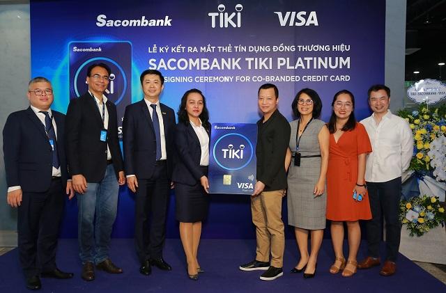 Buổi lễ ra mắt thẻ đồng thương hiệu của Tiki, Sacombank và
