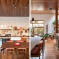 <p> Trong nhà bếp, các kiến trúc sư đã chọn thay thế tủ chén bằng móc trưng bày các dụng cụ duyên dáng và các mảnh thiết kế độc đáo.</p>