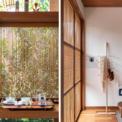 <p> Những tấm rèm gỗ được làm thủ công tinh xảo, hài hòa với thiên nhiên bên ngoài.</p>