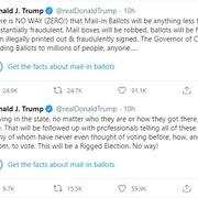 Twitter dán nhãn thông tin sai lệch lên tweet của Trump