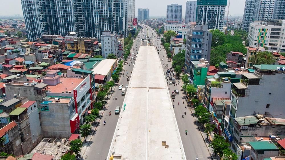 Cận cảnh đường vành đai 2 của Hà Nội sau 2 hơn năm thi công - Ảnh 4.