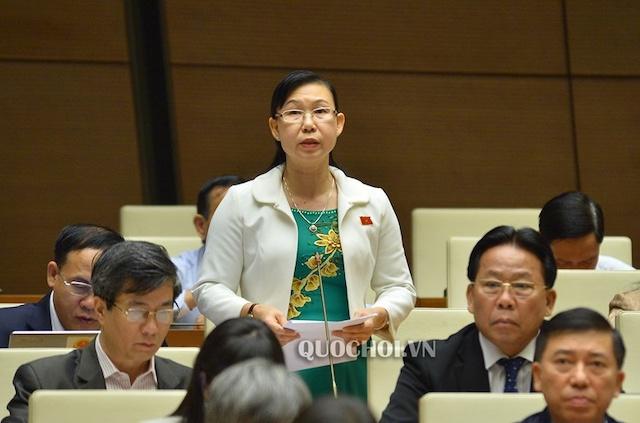 Đại biểu Phan Thị Mỹ Dung (Giám đốc Sở Tư pháp Long An.