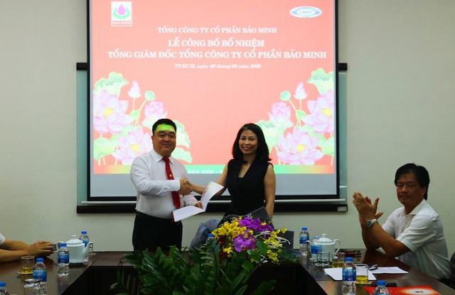 Lễ bổ nhiệm tổng giám đốc của Bảo Minh. Ảnh: BMI.