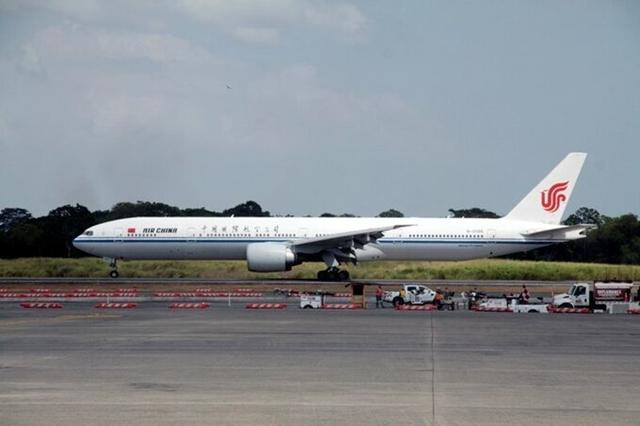 Máy bay Air China ở Panama năm 2018. Ảnh: Reuters.