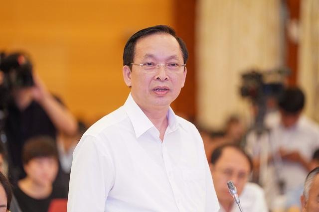 Phó Thống đốc Đào Minh Tú tại phiên họp Chính phủ tháng 5. Ảnh: VGP.