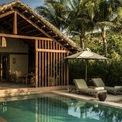 <p> Theo đơn vị thiết kế, các không gian trong resort được xây dựng dựa trên nền tảng kiến trúc truyền thống kết hợp phong cách kiến trúc của dân tộc Thái, Gia Rai, Ba Na &amp; Ê Đê.</p>