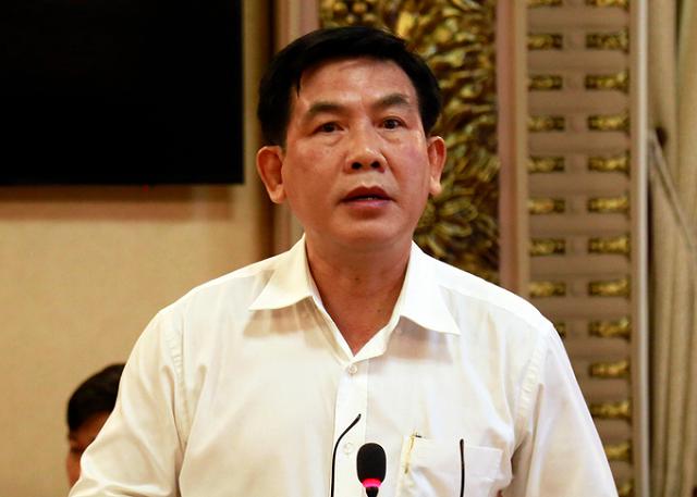 Ông Lương Minh Phúc, Giám đốc Ban quản lý đầu tư xây dựng các công trình giao thông tại buổi làm việc hôm nay.