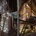 <p> Sự sắp xếp của các khối riêng biệt gồm phòng cho thuê, nhà vệ sinh và bếp nhỏ xuyên suốt 2 tầng, tạo ra các khối mở để dễ dàng giao tiếp với nhau.</p>