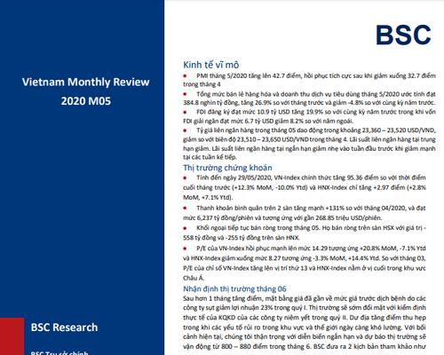 BSC: Vĩ mô và thị trường tháng 5 - Kiểm định lại thực tế