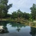<p> Với tầm nhìn toàn cảnh Hồ Hội Khê, kiến trúc sắp xếp khéo léo, có hồ bơi vô cực như một tấm gương lớn, phản chiếu thiên nhiên. Ngôi nhà trở thành nơi giải trí và vui chơi của gia đình.</p>