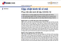 VNDS: Cập nhật kinh tế vĩ mô - Phục hồi nền kinh tế hậu Covid-19