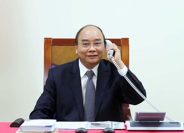 hủ tướng Nguyễn Xuân Phúc trao đổi qua điện thoại với Chủ tịch toàn cầu của Tập đoàn Exxon Mobil về LNG, ông Irtiza Sayyed