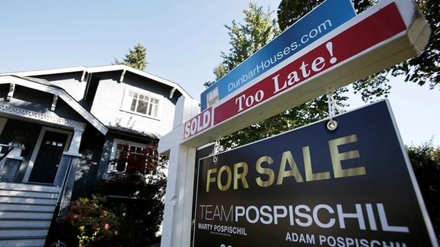 Một bất động sản tại Vancouver, British Columbia, Canada rao bán thu hút sự quan tâm của nhà đầu tư nước ngoài, bao gồm người Trung Quốc. Ảnh: Reuters