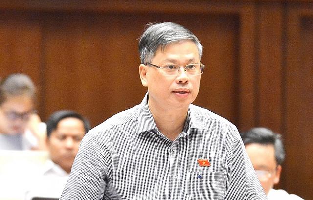 Đại biểu Nguyễn Sỹ Cương (Ninh Thuận) phát biểu tại hội trường.