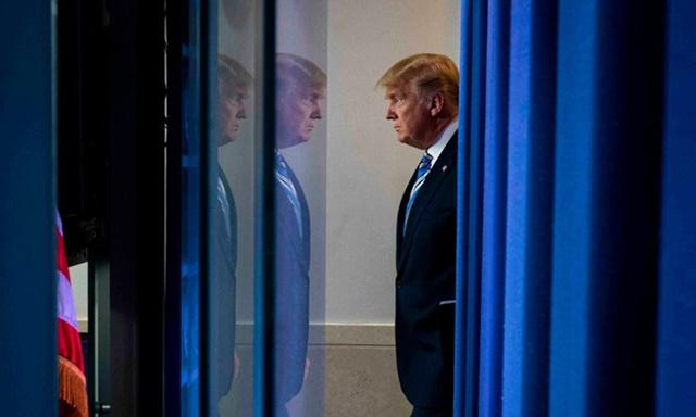 Tổng thống Donald Trump tại Nhà Trắng, thủ đô Washington hồi tháng 3. Ảnh:NYTimes.