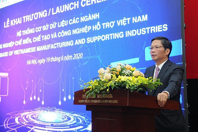 Bộ trưởng Bộ Công Thương Trần Tuấn Anh phát biểu tại sự kiện. Ảnh: VGP/Phan Trang.