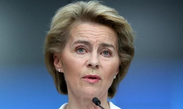 Chủ tịch Ủy ban châu Âu Ursula von der Leyen tại buổi họp báo ở Brussels, Bỉ hôm 22/6. Ảnh: Reuters.