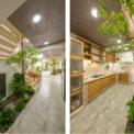 <p> Giữa nhà là cầu thang đi xung quanh cây carambola dưới một mái nhà mờ, chức năng như mảng xanh đem lại sự thoáng mát.</p>