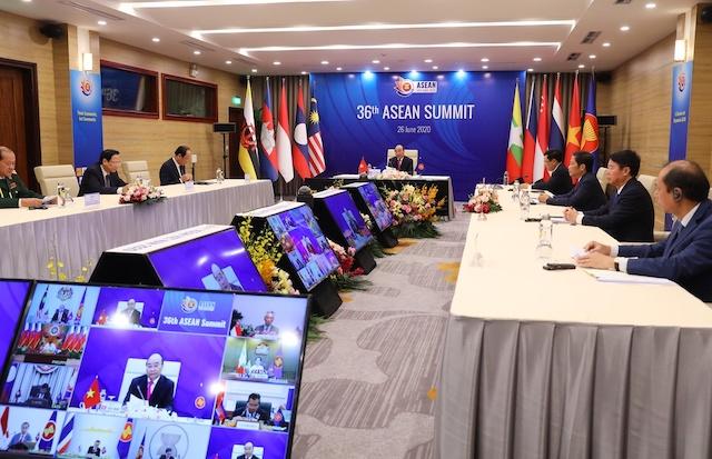 Năm nay là lần đầu tiên Hội nghị Cấp cao ASEAN được tổ chức trực tuyến. Ảnh: Hội nghị Cấp cao ASEAN 36.