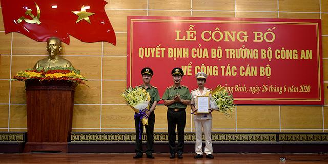 ÔngNguyễn Tiến Nam, Phó Giám đốc Công an tỉnh Hà Tĩnh được điều động và bổ nhiệm là Giám đốc Công an tỉnh Quảng Bình