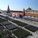 <p> Toàn cảnh duyệt binh kỷ niệm 75 năm ngày đánh bại phát xít Đức tại Quảng trường Đỏ ở Nga vào ngày 24/6. Lễ duyệt binh có sự tham gia của hơn 14.000 quân nhân, gần 300 xe cơ giới, máy bay các loại. Ảnh: <em>Reuters</em>.</p>