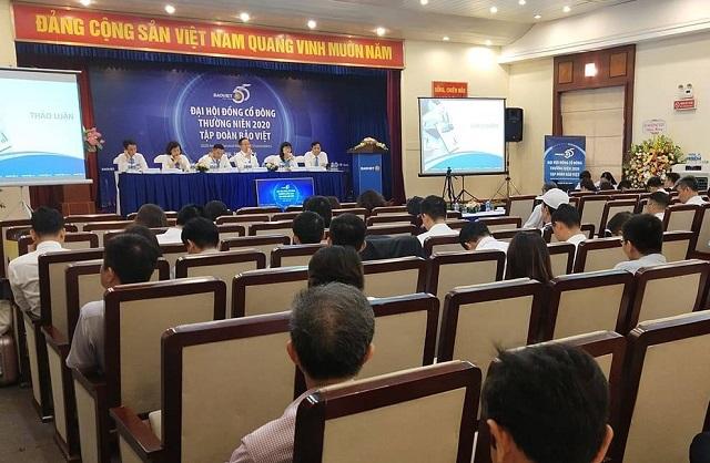 Phiên họp cổ đông thường niên 2020 của Bảo Việt. Ảnh: L.H