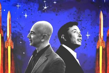 'Chiến tranh' giữa Elon Musk và Jeff Bezos