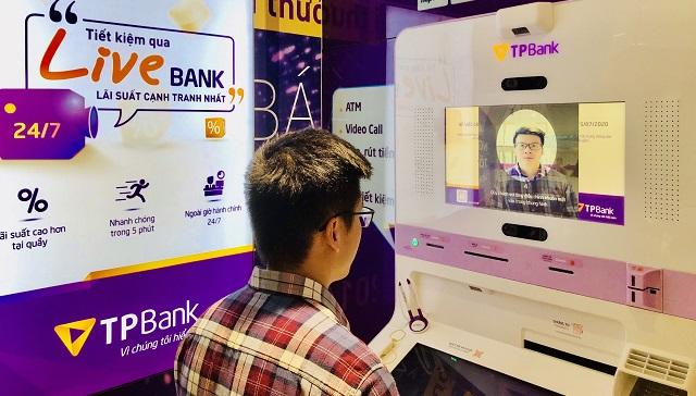 Camera LiveBank ghi nhận hình ảnh của khách hàng. Ảnh: TPBank.