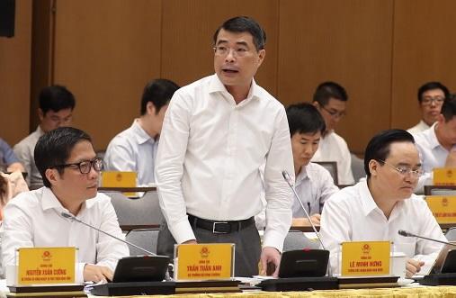 Thống đốc Lê Minh Hưng phát biểu tại hội nghị. Ảnh: SBV