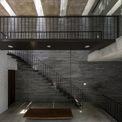 <p> Hệ thống cầu thang với tông màu nâu trầm hiện đại.</p>