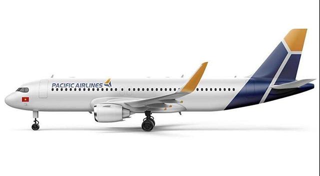 Logo mới trên tàu bay được cho là của Pacific Airlines.