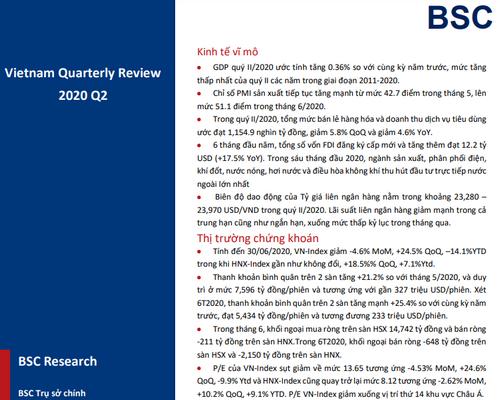 BSC: Vĩ mô và thị trường quý II - Kiểm định phân hóa và tạo nền chờ dòng tiền đầu cơ
