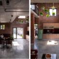 <p> Các ô thoáng trên trần nhà và cửa sổ lớn cho phép các tia nắng chiếu vào nhà.</p>