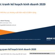 MASVN: Bức tranh kế hoạch kinh doanh 2020