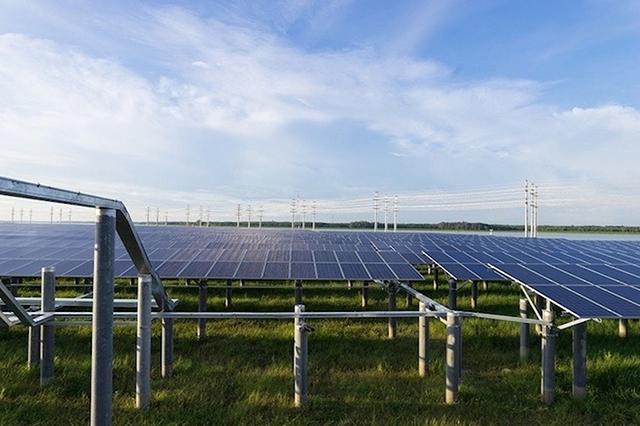 Một dự án điện mặt trời tại Tây Ninh. Ảnh: Anh Minh.
