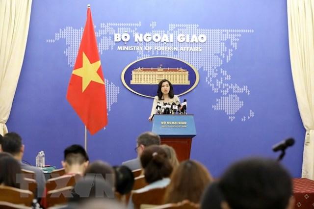 Người phát ngôn Bộ Ngoại giao Lê Thị Thu Hằng trả lời các câu hỏi của phóng viên trong nước và quốc tế quan tâm.