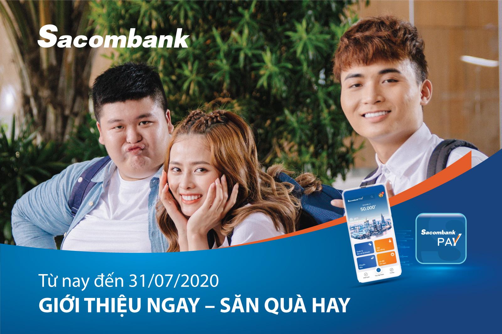 Nhiều ưu đãi khi tải và giao dịch qua ứng dụng Sacombank Pay