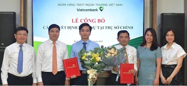Buổi lễ bổ nhiệm nhân sự trụ sở chính. Ảnh: Vietcombank.