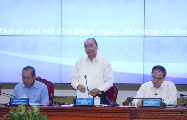 Thủ tướng làm việc với lãnh đạo TP HCM về giải ngân vốn đầu tư công