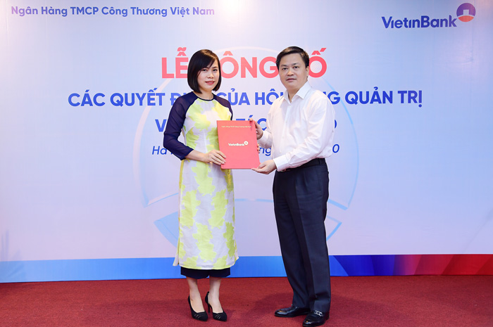 VietinBank tiếp tục bổ nhiệm loạt nhân sự