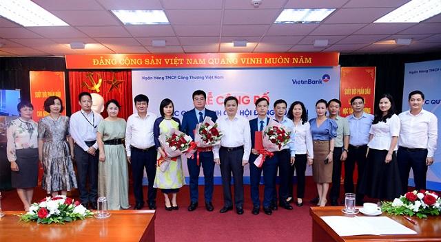 Buổi lễ điều động bổ nhiệm nhân sự của VietinBank. Ảnh: VietinBank.