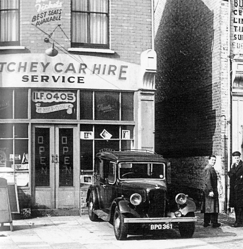 Sir Jack's first car hire office in East London