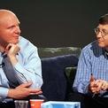 """<p class=""""Normal""""> <strong>Bill Gates và Steve Ballmer: 12 năm</strong></p> <p class=""""Normal""""> Tài sản: 113,6 tỷ USD (Gates) và 72,1 tỷ USD (Ballmer)</p> <p class=""""Normal""""> Nguồn tài sản: Microsoft</p> <p class=""""Normal""""> Bill Gates, 64 tuổi, thành lập công ty phần mềm khổng lồ Microsoft cùng với người bạn trung học Paul Allen vào năm 1975. Công ty này đưa Gates trở thành tỷ phú vào năm 1986, một năm sau khi lên sàn chứng khoán.</p> <p class=""""Normal""""> Ballmer là một trong những nhân viên đầu tiên của Microsoft sau khi rời khỏi Trường kinh doanh Stanford vào năm 1980. Cổ phần của Ballmer tại hãng công nghệ Mỹ cũng giúp ông gia nhập câu lạc bộ tỷ USD. Ballmer đã đảm nhận vai trò CEO Microsoft 14 năm sau khi Gates rời khỏi vị trí này và hiện đang sở hữu câu lạc bộ Los Angeles Clippers. (Ảnh: <em>Getty Images</em>)</p>"""