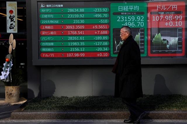 Hong Kong rơi vào suy thoái sâu, chứng khoán châu Á giảm