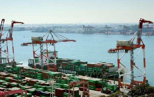Một cảng hàng hóa ở Tokyo, Nhật Bản ngày 18/3/2020. Ảnh: AFP/TTXVN