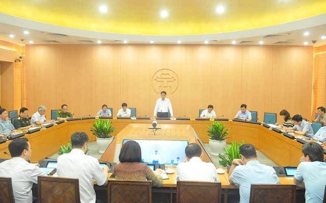 Cuộc họp Ban chỉ đạo phòng chống dịch Covid-19 TP. Hà Nội sáng 9/8.