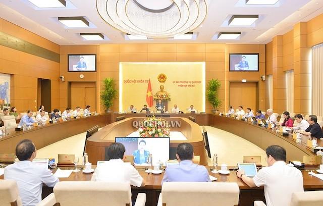 Phiên họp thứ 46 của Ủy ban Thường vụ Quốc hội.